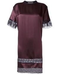 Vestido recto burdeos de Givenchy