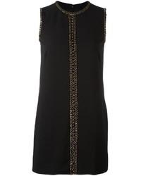 Vestido recto con adornos negro de Dsquared2