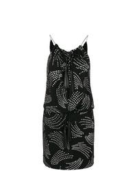 Vestido recto con adornos negro de Saint Laurent