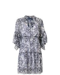 Vestido recto con print de flores azul marino de See by Chloe