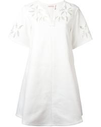 Vestido recto con print de flores blanco de See by Chloe