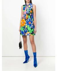 Vestido recto con print de flores en multicolor de MSGM