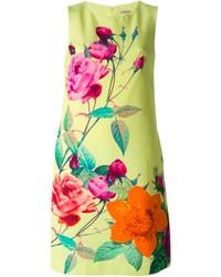 Vestido recto con print de flores en multicolor de P.A.R.O.S.H.