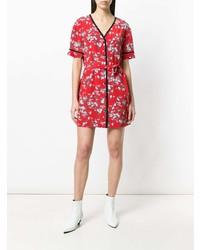 Vestido recto con print de flores rojo de Rag & Bone