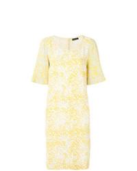 Vestido recto de encaje amarillo de Stine Goya