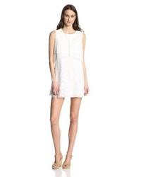 Vestido recto de encaje blanco de BCBGMAXAZRIA