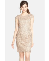 Cómo Combinar Un Vestido Recto De Encaje En Beige 3 Looks