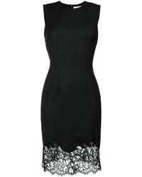 Vestido recto de encaje negro de Givenchy
