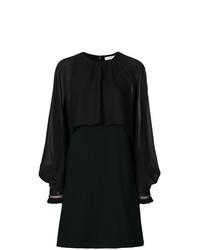 Vestido recto de gasa negro de Chloé