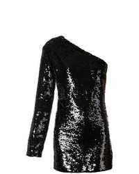 Vestido recto de lentejuelas negro de RtA