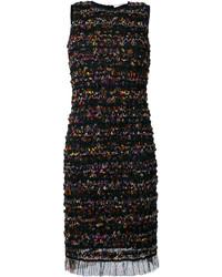 Vestido recto de malla negro de Givenchy