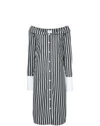 Vestido recto de rayas verticales en blanco y negro de Monographie