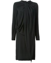 Vestido recto de seda negro de Givenchy