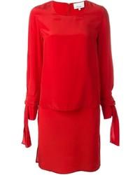 Vestido recto de seda rojo de 3.1 Phillip Lim