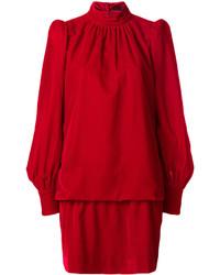Vestido recto de terciopelo rojo de Marc Jacobs