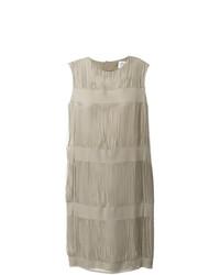 Vestido recto en beige de Maison Margiela