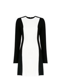 Vestido recto en blanco y negro