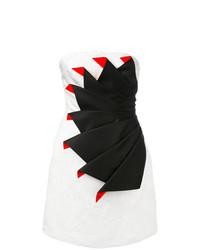 Vestido recto en blanco y negro de Capucci