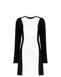Vestido recto en blanco y negro de Tufi Duek