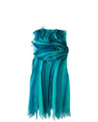 Vestido recto en verde azulado de Gianluca Capannolo