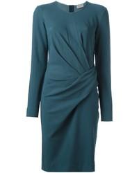 Vestido recto en verde azulado de Lanvin