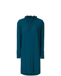 Vestido recto en verde azulado de Marni