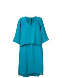 Vestido recto en verde azulado de Minimarket