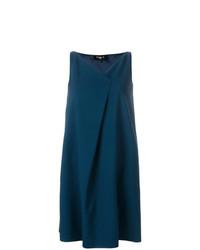 Vestido recto en verde azulado de Paule Ka