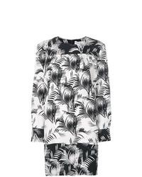 Vestido recto estampado en negro y blanco de Sonia Rykiel