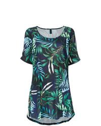Vestido recto estampado en verde azulado de Lygia & Nanny