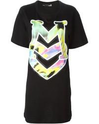 Vestido recto estampado negro de Love Moschino