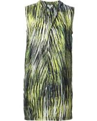 Vestido recto estampado verde de Kenzo