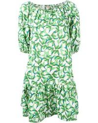 Vestido recto estampado verde de P.A.R.O.S.H.