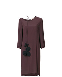 Vestido recto morado oscuro de Marni