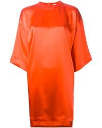 Vestido recto naranja de Givenchy