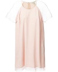 Vestido recto rosado de Burberry