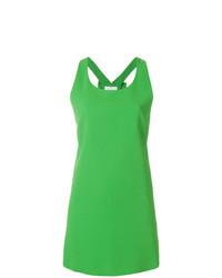 Vestido recto verde de Capucci