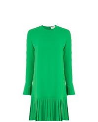 Vestido recto verde de Sara Battaglia