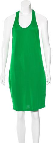 Vestido recto verde de Barbara Bui