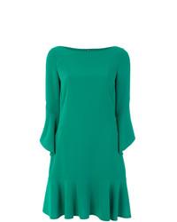Vestido recto verde de Talbot Runhof