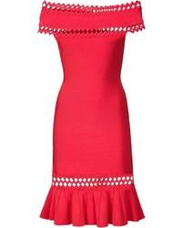 Vestido rojo de Herve Leger