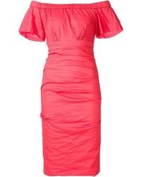 Vestido rojo de Nicole Miller