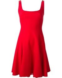 Vestido skater rojo de Ralph Lauren