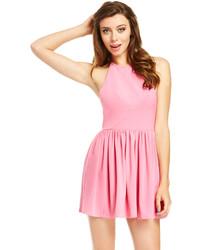 Vestido skater rosado