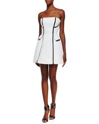 Vestido tubo acolchado en blanco y negro