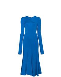 Vestido tubo azul de Esteban Cortazar
