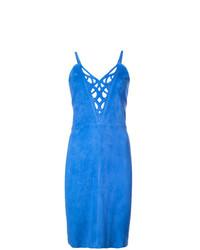 Vestido tubo azul de Jitrois