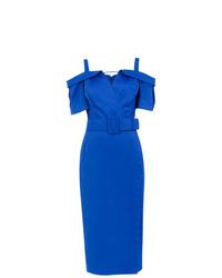 Vestido tubo azul de Tufi Duek