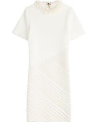 Vestido tubo con adornos blanco