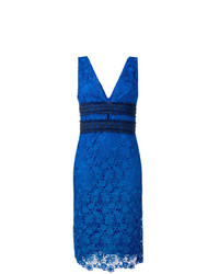 Vestido tubo de encaje azul de Dvf Diane Von Furstenberg